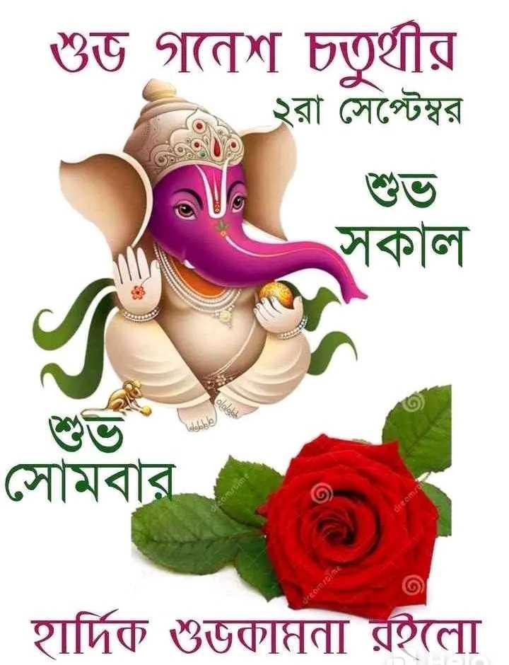 👌👌 শুভ সকাল 👌👌 - শুভ গনেশ চতুর্থীর . ২রা সেপ্টেম্বর সকাল সােমবার হার্দিক শুভকামুনা রইলাে - ShareChat