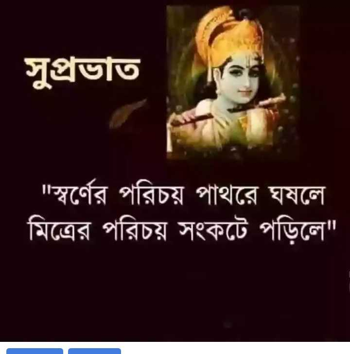 🌞সুপ্রভাত - সুপ্রভাত ' স্বর্ণের পরিচয় পাথরে ঘষলে মিত্রের পরিচয় সংকটে পড়িলে - ShareChat