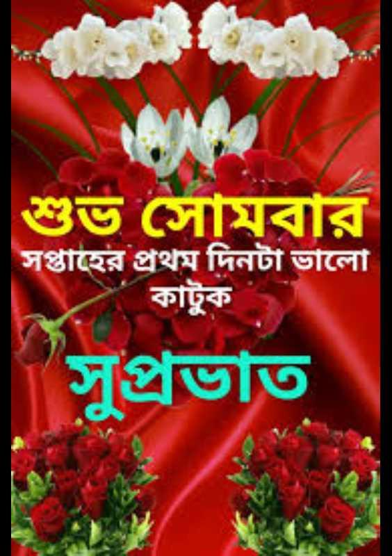 🌞সুপ্রভাত - শুভ সোমবার সপ্তাহের প্রথম দিনটা ভালাে । কাটুক সুপ্রভাত - ShareChat