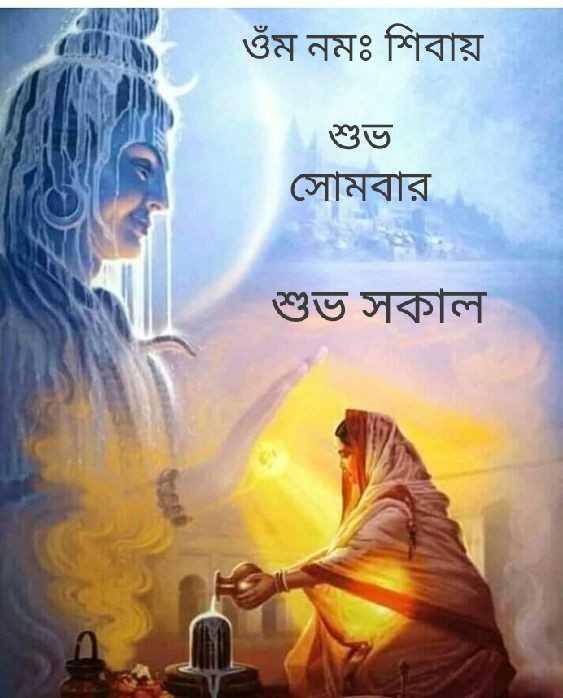 🌞সুপ্রভাত - ওঁম নমঃ শিবায় শুভ সােমবার শুভ সকাল - ShareChat