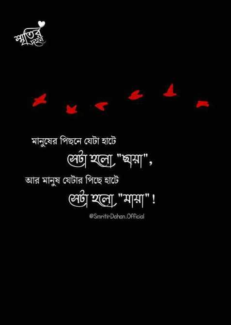📖 স্বরচিত কবিতা - মানুষের পিছনে যেটা হাটে পা হলাে , ঘয়া , আর মানুষ যেটার পিছে হাটে লর্ড হলাে মায়া ! @ Smritir Dahon . Official - ShareChat