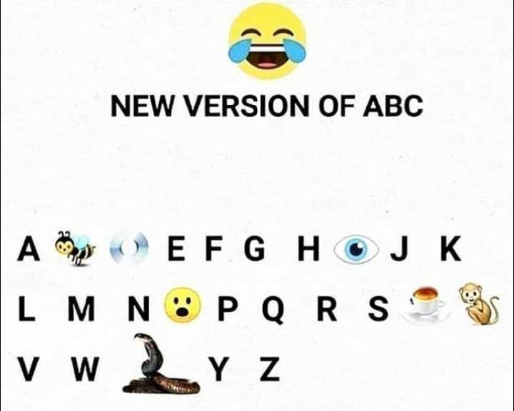 😜  ਕਲੋਲਾਂ - NEW VERSION OF ABC A pO ) E F G H OJK L M N O P Q R S * v w 2 rz - ShareChat