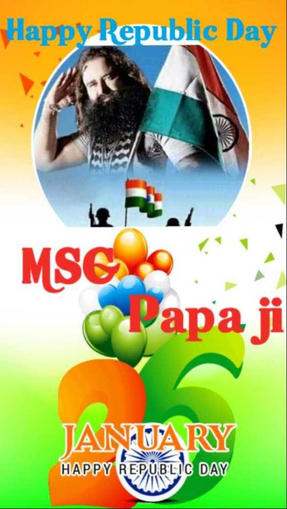 🇮🇳 ਗਣਤੰਤਰ ਦਿਵਸ ਦੀਆਂ ਵਧਾਈਆਂ - Happy Republic Day MSGROU Ceapa ji JANUARY HAPPY REPUBLIC DAY - ShareChat