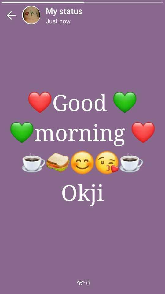 🌅 ਗੁੱਡ ਮੋਰਨਿੰਗ - My status Just now Good morning Okji DO - ShareChat