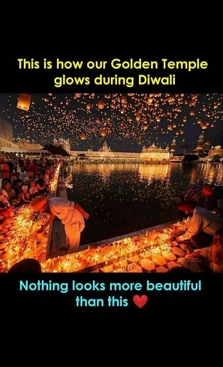 💥 ਠਾ-ਠਾ ਪਟਾਕੇ / ਗਰੀਨ ਦਿਵਾਲੀ 🍃 - This is how our Golden Temple glows during Diwali Nothing looks more beautiful than this - ShareChat