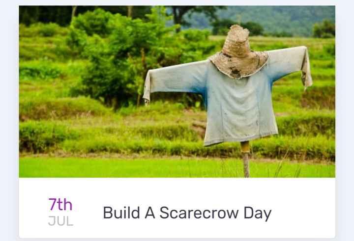 👹 ਡਰਨਾ(scarecrow) ਦਿਵਸ - 7th JUL Build A Scarecrow Day - ShareChat