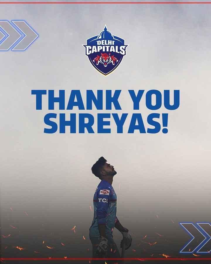 🏏ਦਿੱਲੀ ਕੈਪਿਟਲਜ਼ - DELHI TAPITALS THANK YOU SHREYAS ! TCI - ShareChat