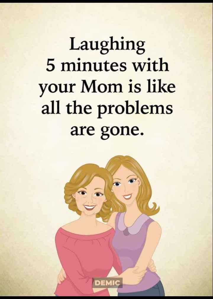 💝ਬੇਬੇ ਬਾਪੂ - Laughing 5 minutes with your Mom is like all the problems are gone . DEMIC - ShareChat