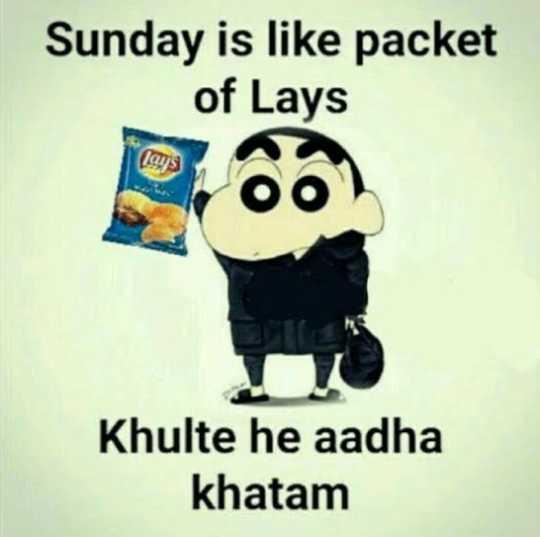 🔍 ਮਜ਼ੇਦਾਰ facts 🔖 - Sunday is like packet of Lays las Khulte he aadha khatam - ShareChat