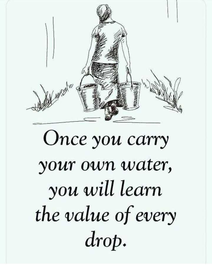 🔍 ਮਜ਼ੇਦਾਰ facts 🔖 - NAMES Once you carry your own water , you will learn the value of every drop . - ShareChat