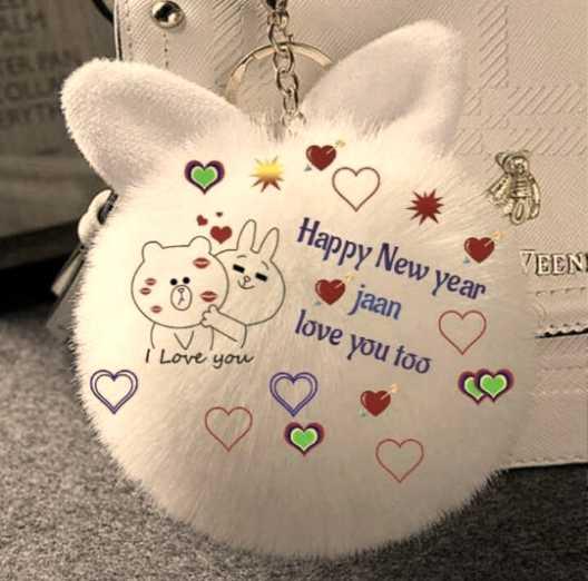 😍  ਲਵ ਸ਼ਵ ਸ਼ਾਇਰੀਆਂ - . : Flappy New year jaan ♡ love you too VEEN I Love you ♡ ♡ - ShareChat