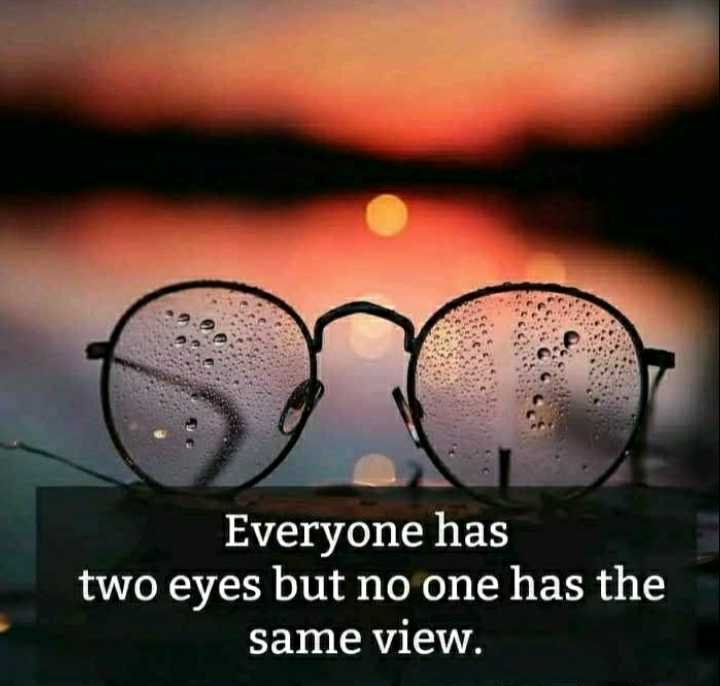 📱 ਵਟਸਐਪ ਸਟੇਟਸ - Everyone has two eyes but no one has the same view . - ShareChat