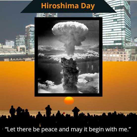 💣 ਹੀਰੋਸ਼ੀਮਾ ਡੇ - Hiroshima Day ULTER Let there be peace and may it begin with me . - ShareChat