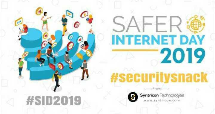 📶 ઈન્ટરનેટ દિવસ - SAFERO INTERNET DAY - 2019 # securitysnack - From # SID2019 Syntricon Technologies www synticon . com - ShareChat