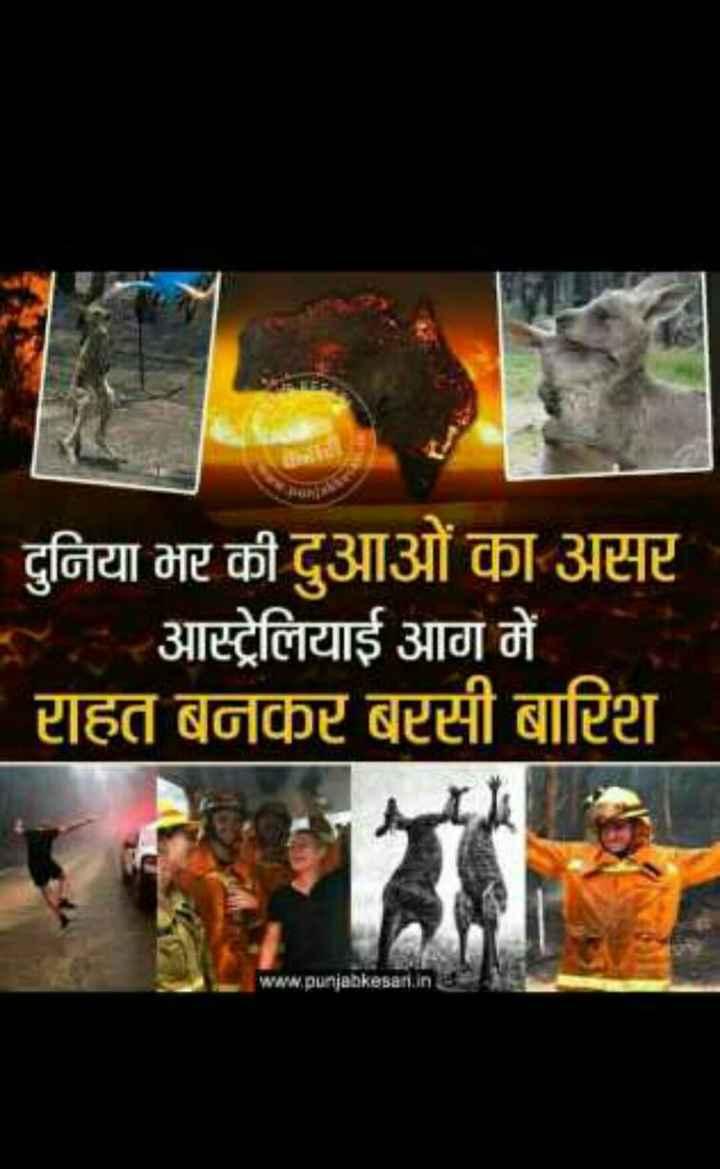 ઓસ્ટ્રેલિયા માં આગ - दुनिया भर की दुआओं का असर - आस्ट्रेलियाई आग में राहत बनकर बरसी बारिश EMA www . punjabkesari . inc . - ShareChat