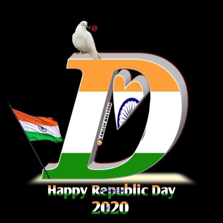 🔠 ત્રિરંગાની અક્ષરકળા - un KAMLESH MAKVANA Happy Republic Day 2020 - ShareChat