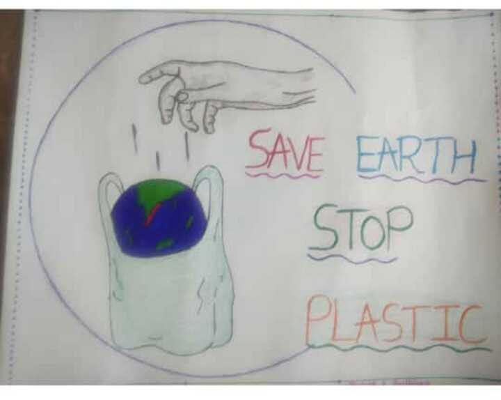 🚫 બાય બાય : પ્લાસ્ટિક 🛍️ - SAVE EARTH STOP PLASTIC - ShareChat
