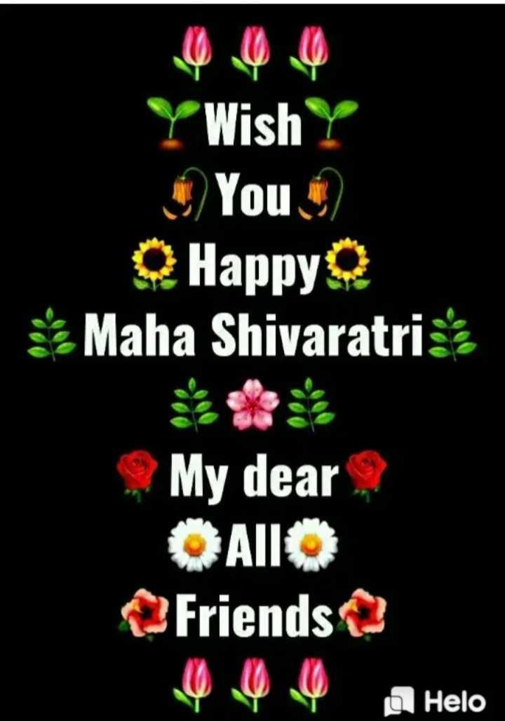 🙏 મહા શિવરાત્રી - Y Wish Y You Q HappyQ Maha Shivaratri : My dear , Allo Friends - ShareChat