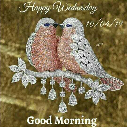 💐 શુભ બુધવાર - Happy Wednesday 10 / 04 / 19 Aditya Good Morning - ShareChat