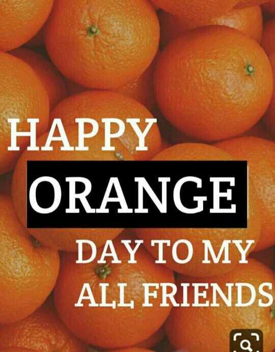 🍊 શેરચેટ નારંગી દિવસ - HAPPY ORANGE DAY TO MY ALL FRIENDS - ShareChat