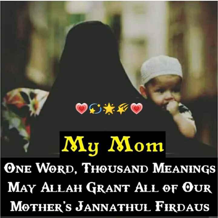 🕍 அல்லாவின் அருட்கொடை - My Mom ONE WORD , THOUSAND MEANINGS May ALLAH GRANT ALL OF OUR MOTHER ' S JANNATHUL FIRDAUS - ShareChat