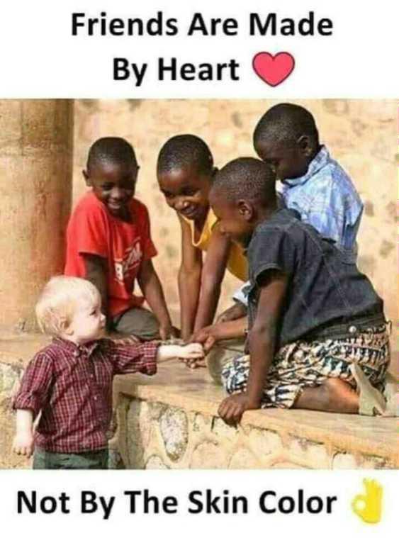 😏ఆటిట్యూడ్ స్టేటస్ - Friends Are Made By Heart Not By The Skin Color - ShareChat