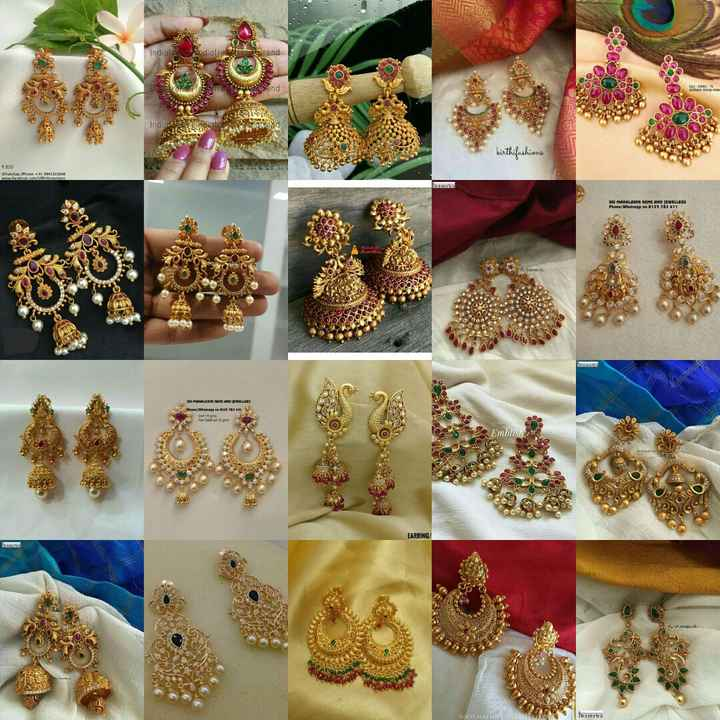 👑ఆభరణాలు - India rend Send kittifashians SRI MAHALAKME GEMS AND JEWELLERS Phone / Whatsapp no 1125 782 411 home PHILA N LILLE ma EARRING / uamua WSOOL EUR - ShareChat