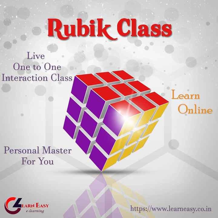 ఇన్డోర్ గేమ్స్ - Rubik Class Live One to One Interaction Class Learn Online Personal Master For You JEARN EASY e - learning https : / / www . learneasy . co . in - ShareChat