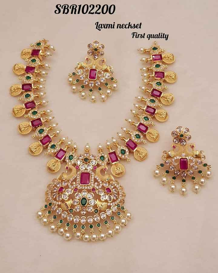 కుందన్ డిజైన్స్ - SBR102200 Laxmi neckset First quality OOO Oy - ShareChat