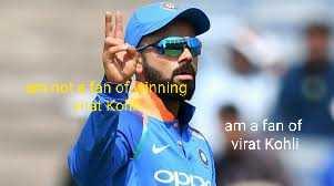 కోహ్లి - not an of inning Vat Kom am a fan of Virat Kohli OS - ShareChat