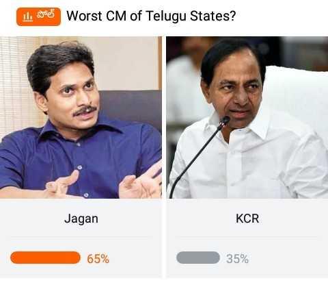 😘జగనన్న గోరుముద్ద - I goed Worst CM of Telugu States ? Jagan KCR 65 % 35 % - ShareChat