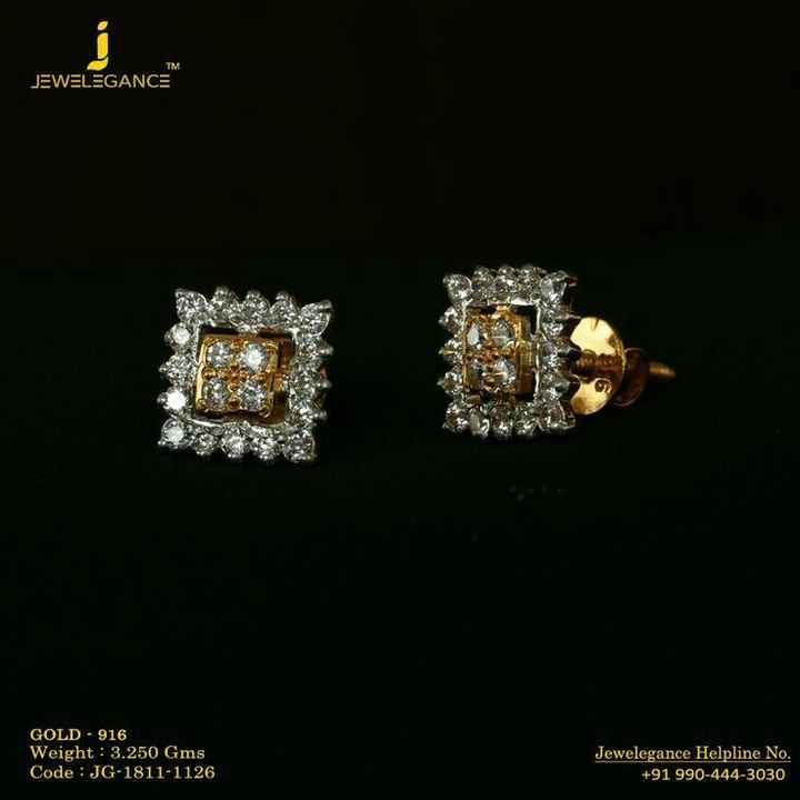 👂ఝుంకిలు - TM JEWELEGANCE GOLD - 916 Weight : 3 . 250 Gms Code : JG - 1811 - 1126 Jewelegance Helpline No . + 91 990 - 444 - 3030 - ShareChat