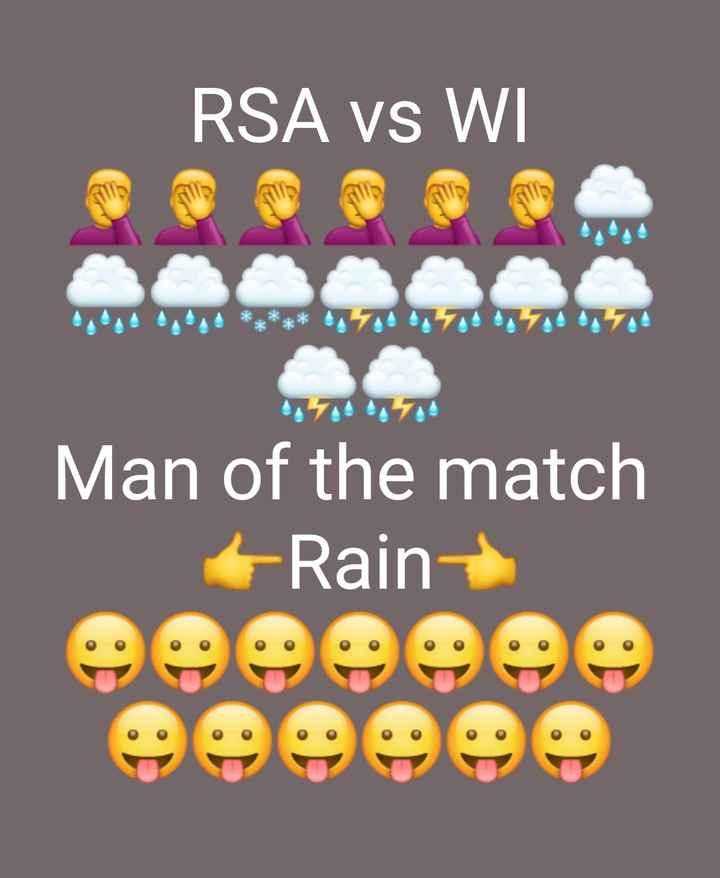 🏆దక్షిణాఫ్రికా vs వెస్టిండీస్ - RSA vs WI Man of the match + Rain - ShareChat