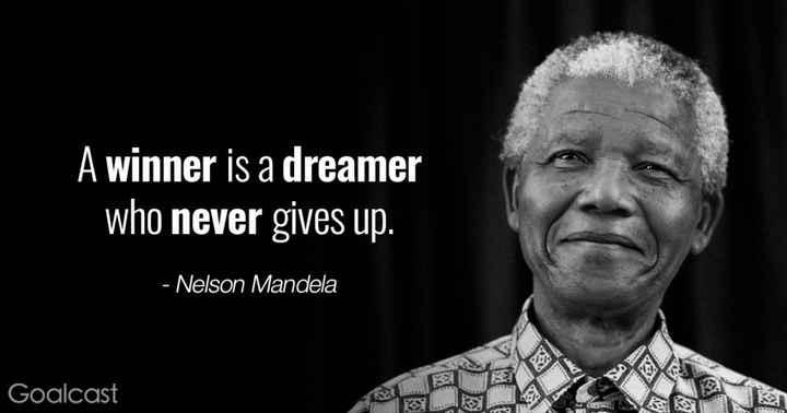 🙏పేదవారికి మనతరపు సహాయం - A winner is a dreamer who never gives up . - Nelson Mandela Goalcast - ShareChat