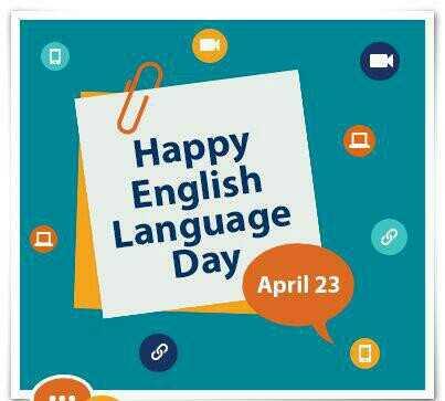 📖 ప్రపంచ పుస్తక దినోత్సవం - Happy English Language Day April 23 - ShareChat
