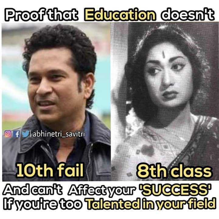 ప్రేరేపించే స్టేటస్ - Proof that Education doesn ' t O f labhinetri _ savitri 10th fail — 8th class And can ' t Affect your SUCCESS If you ' re too Talented in your field - ShareChat