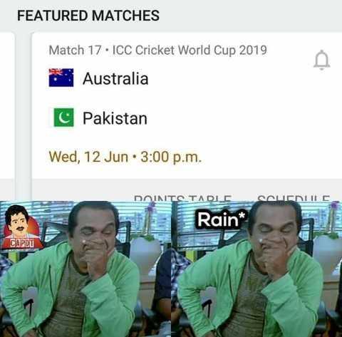🏆బంగ్లాదేశ్ vs శ్రీలంక - FEATURED MATCHES Match 17 . ICC Cricket World Cup 2019 Australia C Pakistan Wed , 12 Jun : 3 : 00 p . m . INTO TADLEGALENIC Rain * - ShareChat