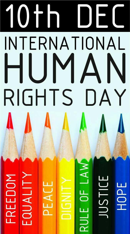 👏మానవ హక్కుల దినోత్సవం - FREEDOM EQUALITY PEACE DIGNITY RIGHTS DAY HUMAN INTERNATIONAL 10th DEC RULE OF LAW JUSTICE НОРЕ - ShareChat