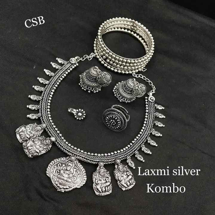 👃ముక్కు పుడక - CSB 22 TAA ON Laxmi silver Kombo - ShareChat