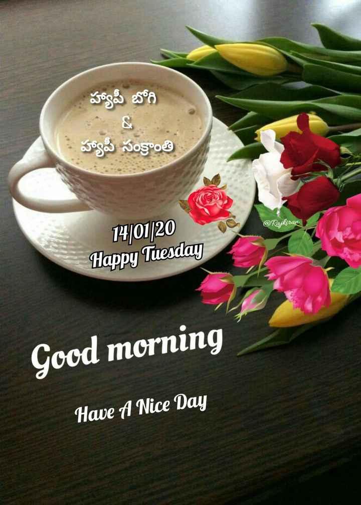 🌅శుభోదయం - హ్యాపీ బోగి • హ్యాపీ సంక్రాంతి @ Rajkiran 14 / 01 / 20 Happy Tuesday Good morning Have A Nice Day - ShareChat