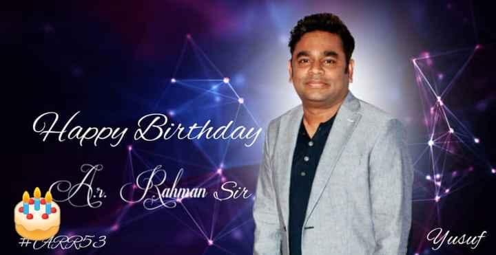 🎁ಎ.ಆರ್.ರಹಮಾನ್ ಹುಟ್ಟು ಹಬ್ಬ - Happy Birthday ahman # CARR53 Yusuf - ShareChat