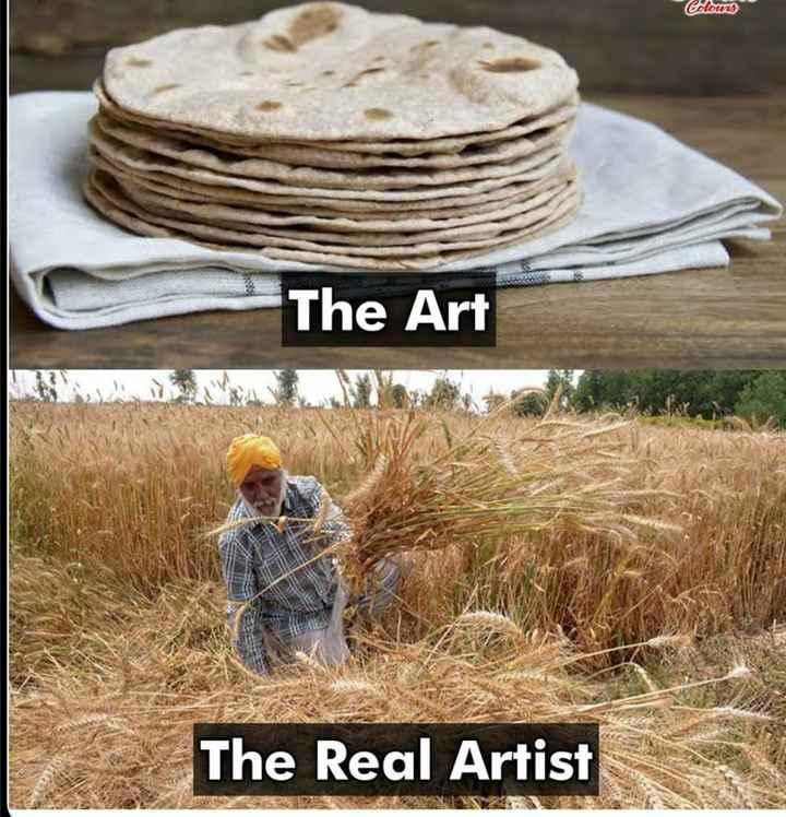 ಕೃಷಿಕ - Colours The Art The Real Artist - ShareChat