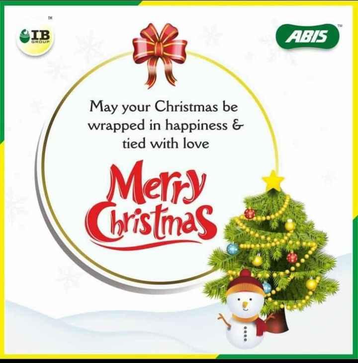 🎉ಕ್ರಿಸ್ಮಸ್ ಸಂಭ್ರಮ - OIB ABIS GROUP May your Christmas be wrapped in happiness & tied with love Merry Christmas - ShareChat