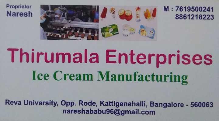 🎉ಕ್ರಿಸ್ಮಸ್ ಸಂಭ್ರಮ - Proprietor Naresh M : 7619500241 8861218223 Thirumala Enterprises Ice Cream Manufacturing Reva University , Opp . Rode , Kattigenahalli , Bangalore - 560063 nareshababu96 @ gmail . com - ShareChat