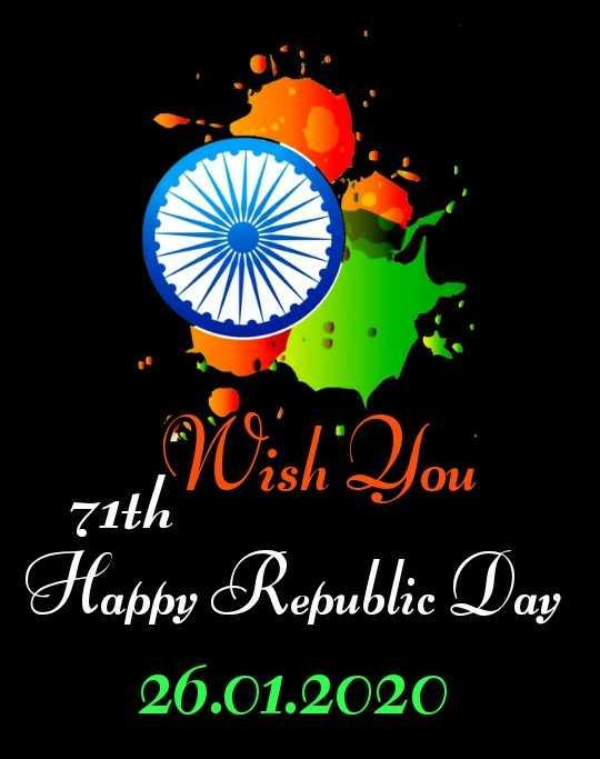🙏ಗಣರಾಜ್ಯೋತ್ಸವದ ಶುಭಾಶಯಗಳು - 1 , 2 OU 71th Wish You Happy Republic Day 26 . 01 . 2020 - ShareChat