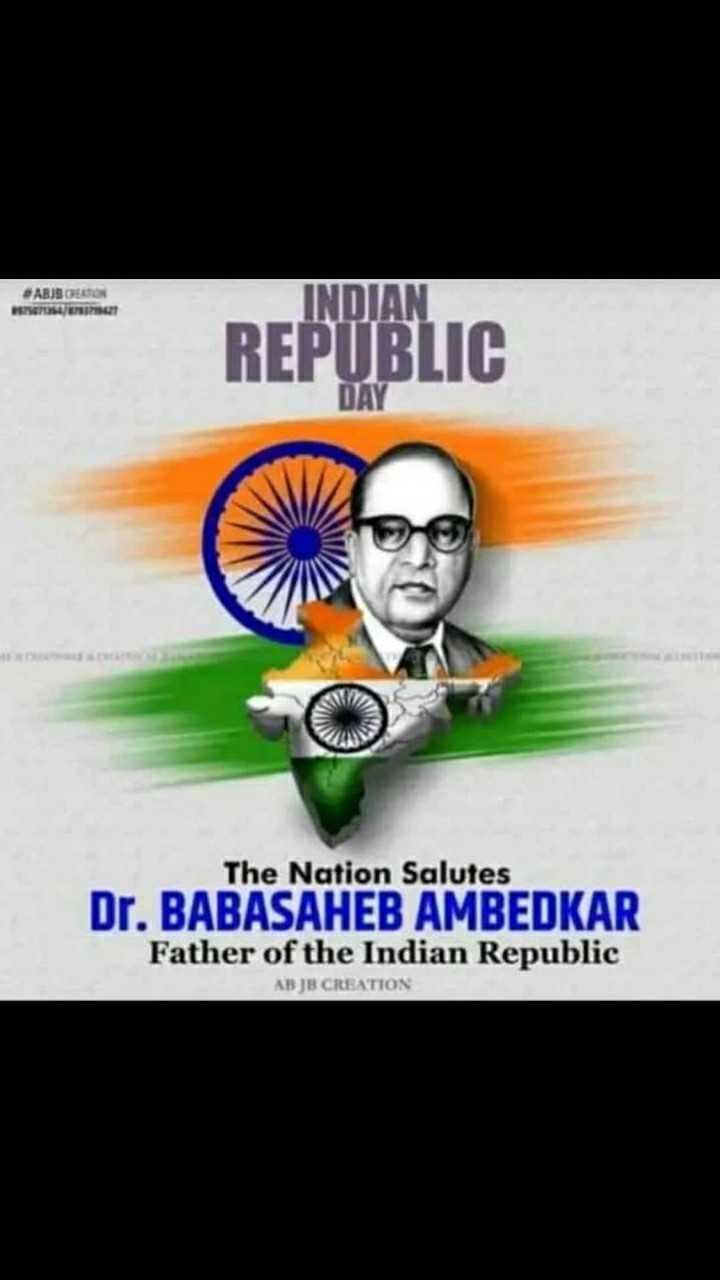 🙏ಗಣರಾಜ್ಯೋತ್ಸವದ ಶುಭಾಶಯಗಳು - ABS EATON SESE INDIAN REPUBLIC The Nation Salutes Dr . BABASAHEB AMBEDKAR Father of the Indian Republic AB JB CREATION - ShareChat