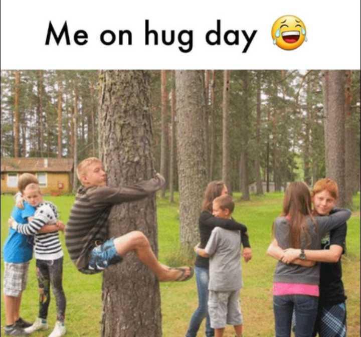 🤔 ನನ್ನ ಪ್ರಕಾರ - Me on hug day - ShareChat