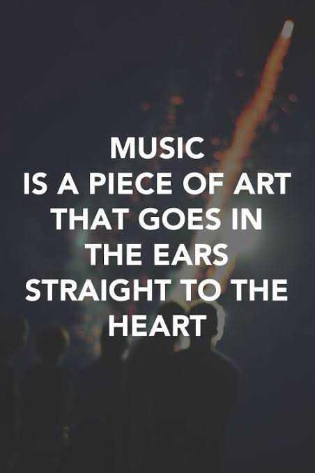 🤔 ನನ್ನ ಪ್ರಕಾರ - MUSIC IS A PIECE OF ART THAT GOES IN THE EARS STRAIGHT TO THE HEART - ShareChat