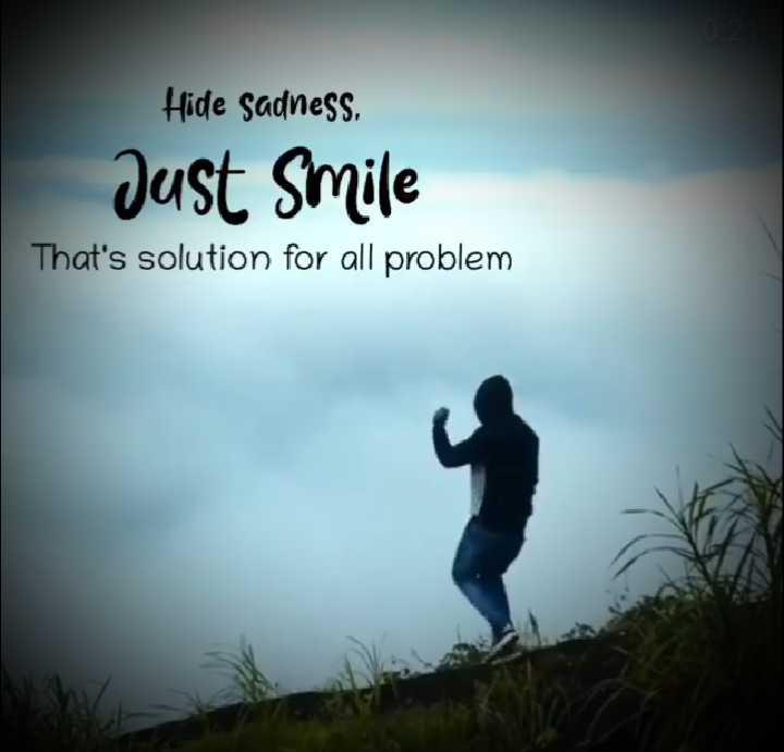 📜 ನುಡಿಮುತ್ತು - Hide sadness Just Smile That ' s solution for all problem - ShareChat