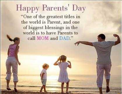 "👫ಪೋಷಕರ ದಿನ - Happy Parents ' Day "" One of the greatest titles in the world is Parent , and one of biggest blessings in the world is to have Parents to call MOM and DAD . - ShareChat"